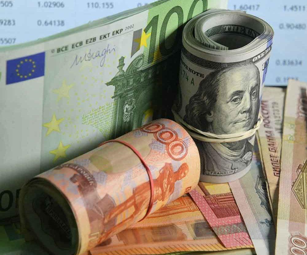 перевести евро в доллары